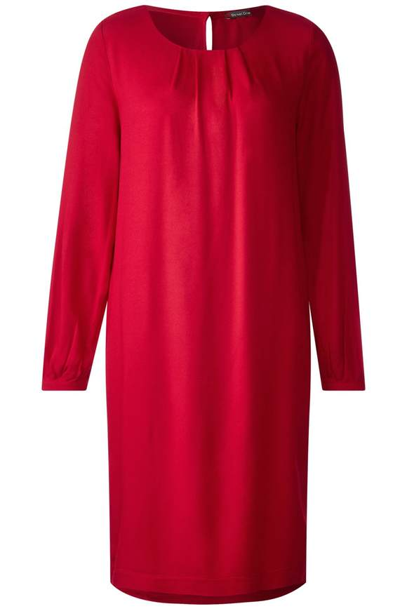 Feminines Sweat-Kleid - pure red | Bekleidung > Kleider > Sweatkleider | Pure red | STREET ONE