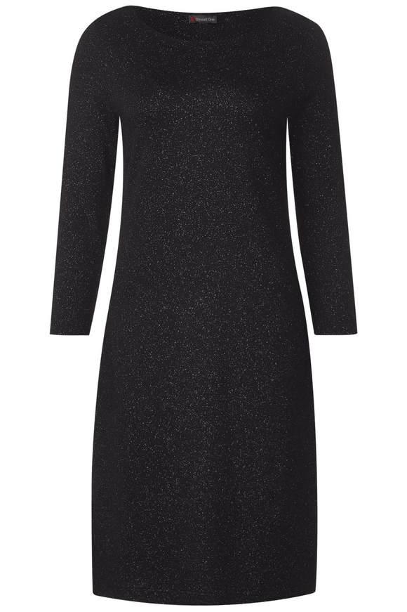 Weiches Glitzer-Jersey Kleid - Black