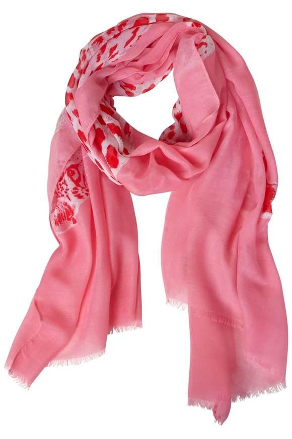 Foulard avec imprimé léopard - blossom pink