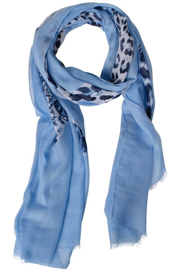 Foulard avec imprimé léopard - cosmic blue