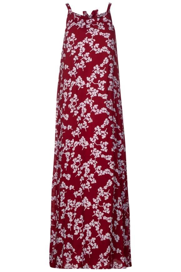 Neckholder Kleid mit Print - wine red   Bekleidung > Kleider > Neckholderkleider   Wine red   STREET ONE