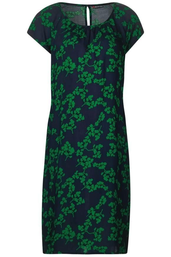 Shirt Kleid mit Blumenprint - pure green | Bekleidung > Kleider > Shirtkleider | Pure green | STREET ONE