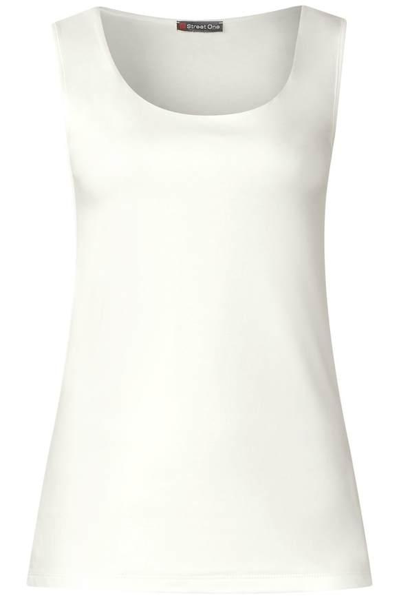 Weiches Rundhalstop Gania - off white | Bekleidung | Off white | STREET ONE