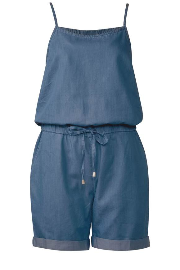 Jumpsuit im Denim Style - mid blue tencel wash