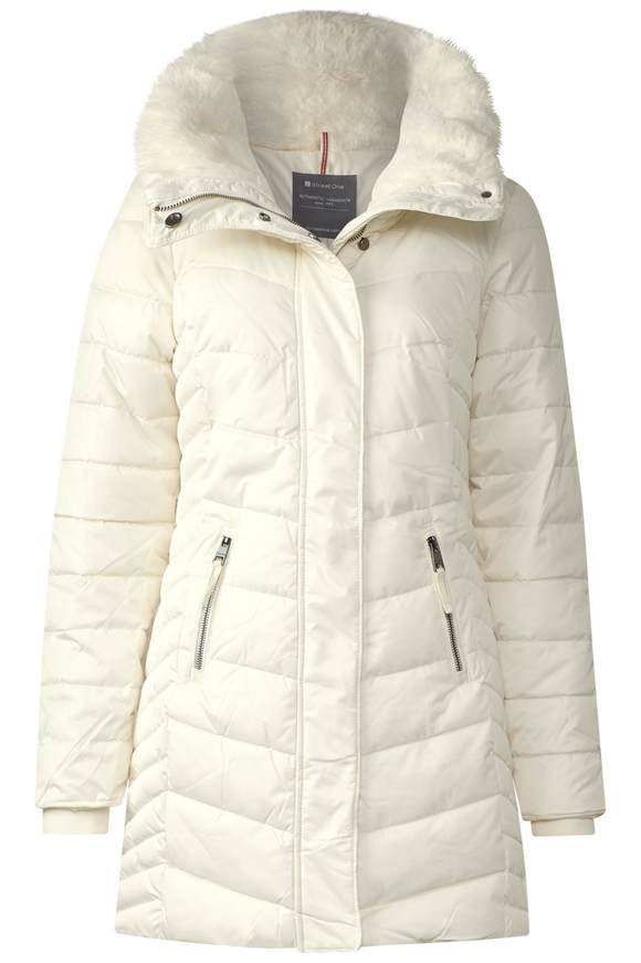 Manteau féminin rembourré - ecru