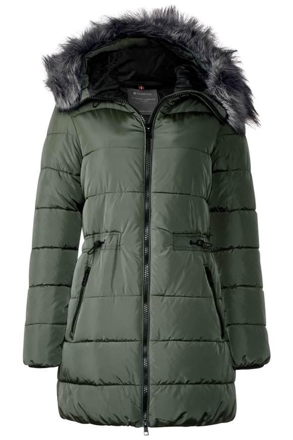 Wattierte Nylon Jacke - woodland green | Bekleidung > Jacken > Nylonjacken | Woodland green | Nylon | STREET ONE