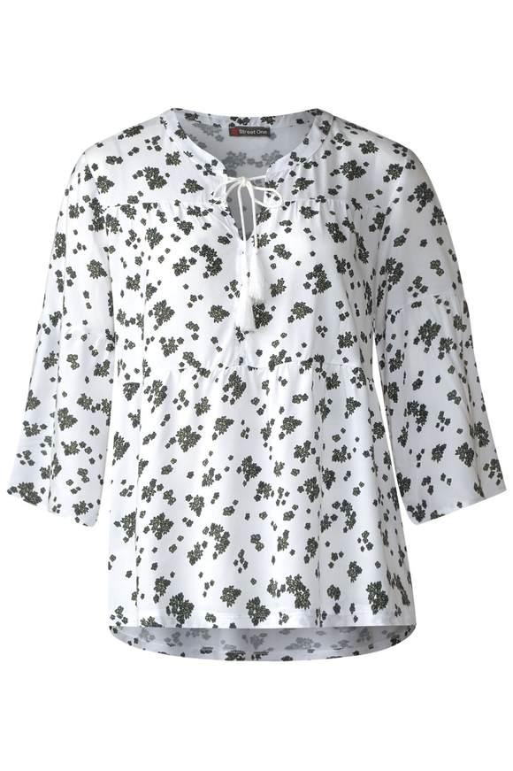 Blumenprint Tunika - White | Bekleidung > Tuniken | White | STREET ONE