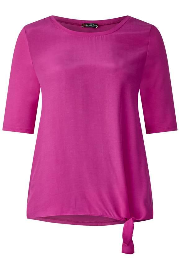 Sportief shirt met strik  - dark electric pink