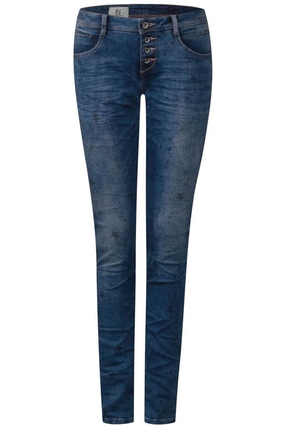 Lässige Denim Crissi - printed blue random bleach