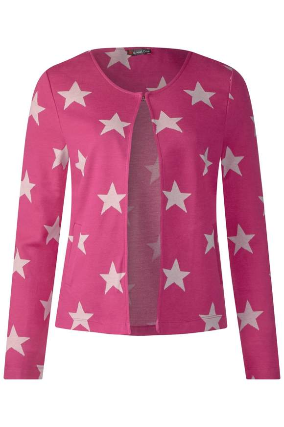 Feminine Shirtjacke - dark electric pink