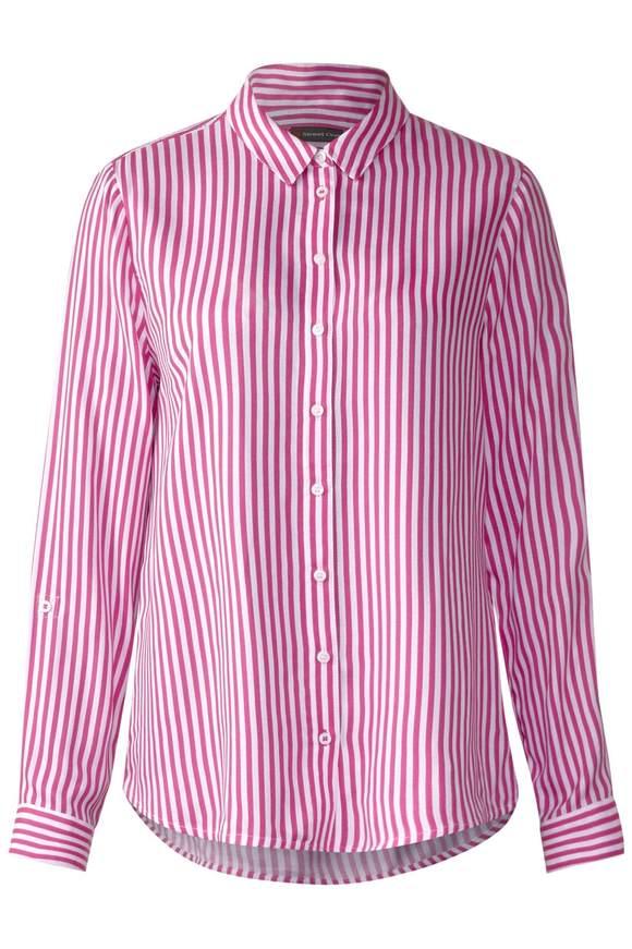 Blouse rayée légère - dark electric pink