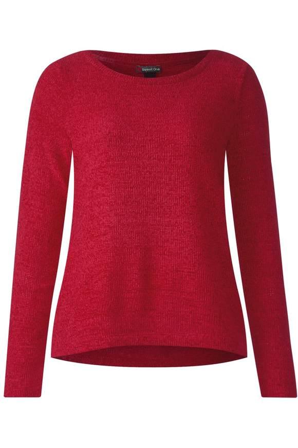 T-shirt texturé doux - pure red