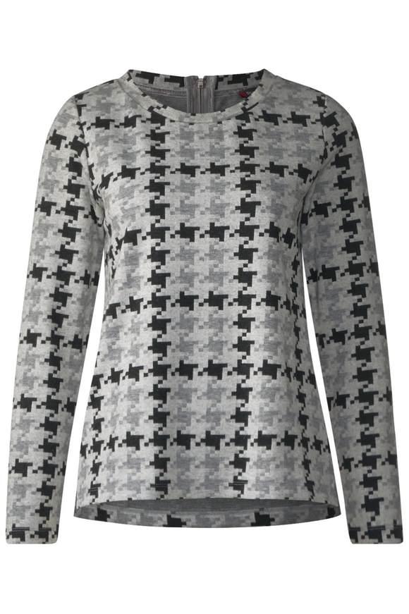 Weiches Grafik-Print Shirt - moon grey melange | Bekleidung > Shirts > Print-Shirts | Moon grey melange | STREET ONE