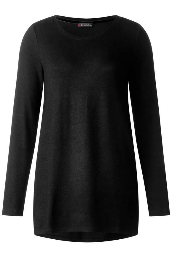 T-shirt en jersey doux - noir