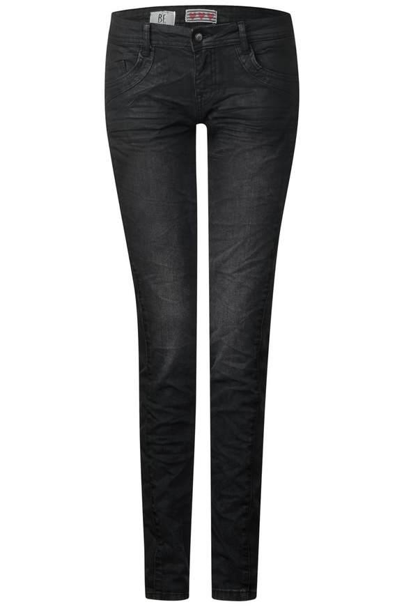 Gecoate jeans Crissi  - Roze part coated wash