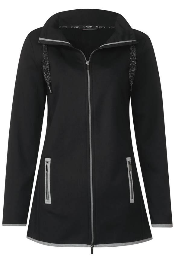 Feminine Jacke mit Kragen - Black