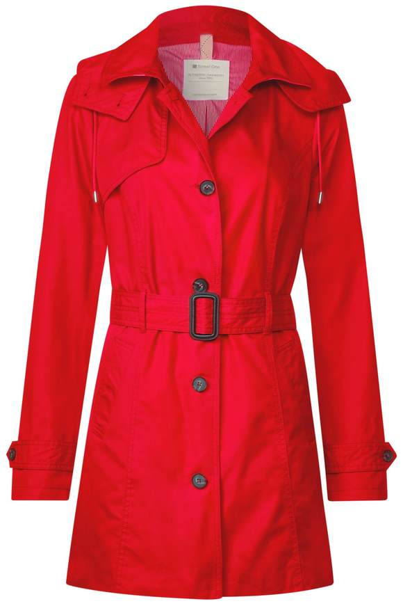 Trenchcoat mit Gürtel - flame red | Bekleidung > Mäntel > Trenchcoats | Flame red | STREET ONE