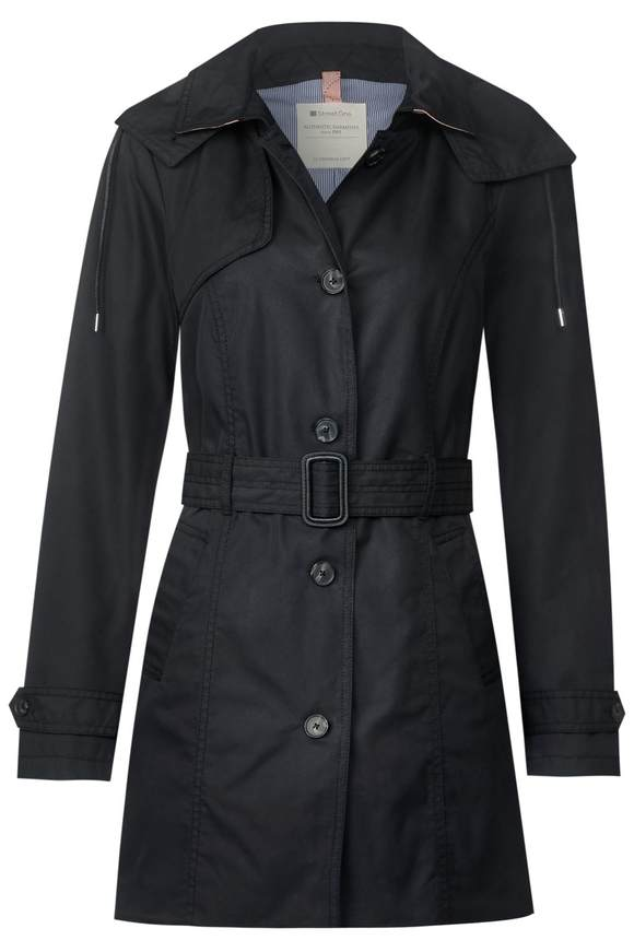 Trenchcoat mit Gürtel - Black | Bekleidung > Mäntel > Trenchcoats | Black | STREET ONE