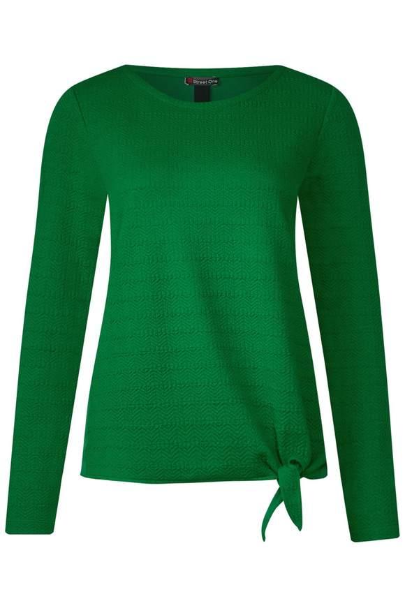 Struktur Shirt mit Knoten - Jolly Green