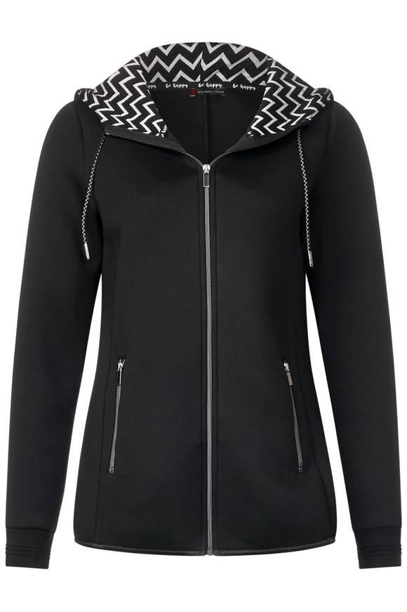 Jacke im Hoodie-Style - Black