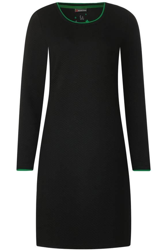 Sweatkleid mit Struktur - Black   Bekleidung > Kleider > Sweatkleider   Black   STREET ONE