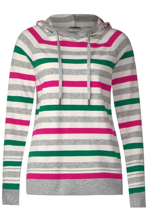 Gestreepte hoodie  - creamy Wit melange