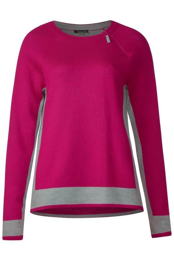 Pullover mit Zipper-Detail - azalea pink