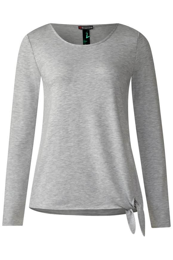 Zacht shirt Mathea  - moon grey melange