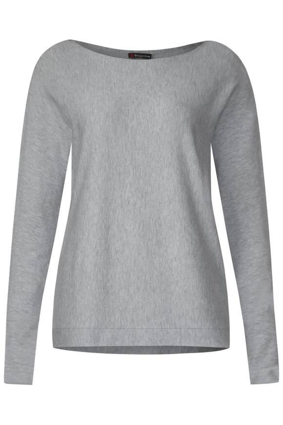 Basic Pullover Noreen - moon grey melange