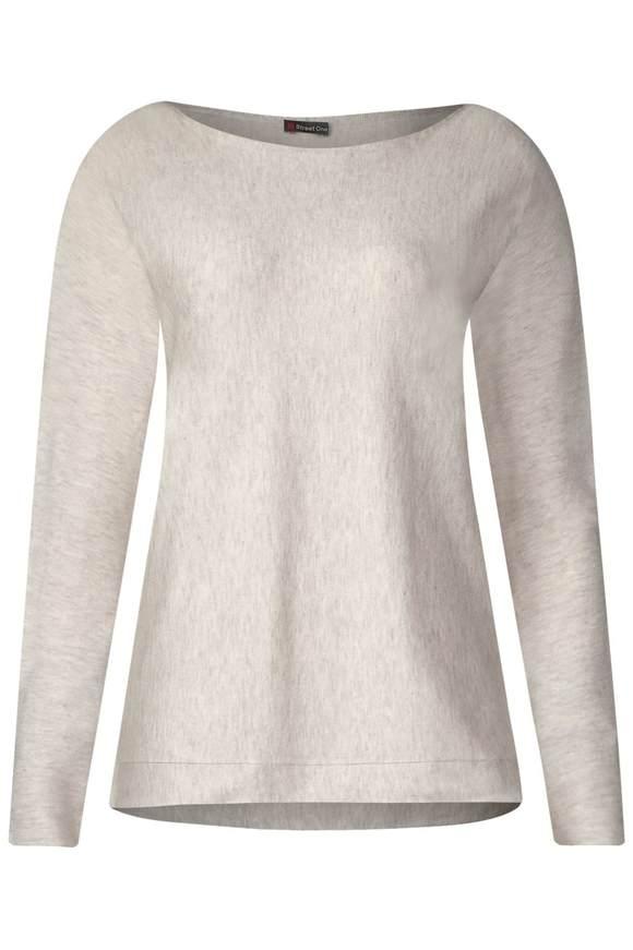 Basic Pullover Noreen - creamy white melange