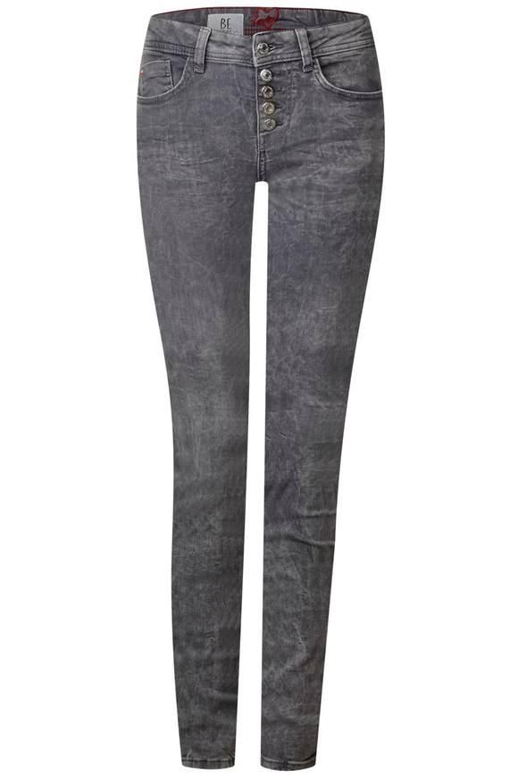 Casual slim fit-jeans York  - Grijs randon bleach