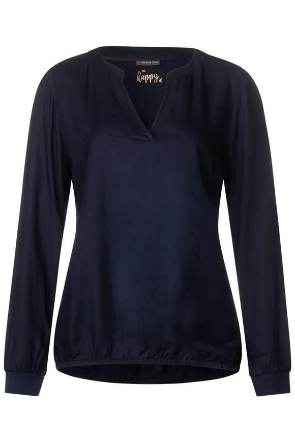 Bluse im Tunika-Style - deep blue | Bekleidung > Tuniken > Sonstige Tuniken | Deep blue | STREET ONE