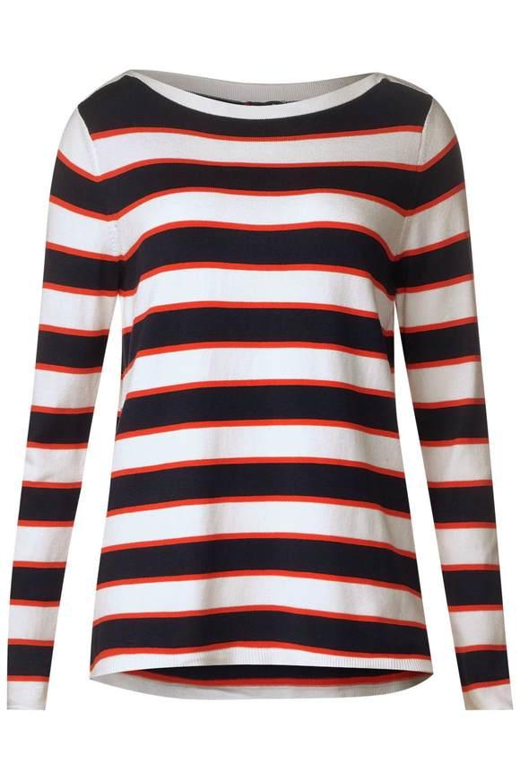 Streifen Pullover Osane - deep blue | Bekleidung > Pullover > Streifenpullover | Deep blue | Denim | STREET ONE