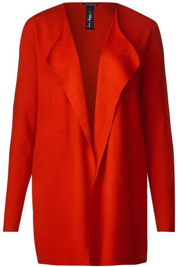 Softe Strickjacke Oceana - hot orange | Bekleidung > Strickjacken & -mäntel | Hot orange | STREET ONE