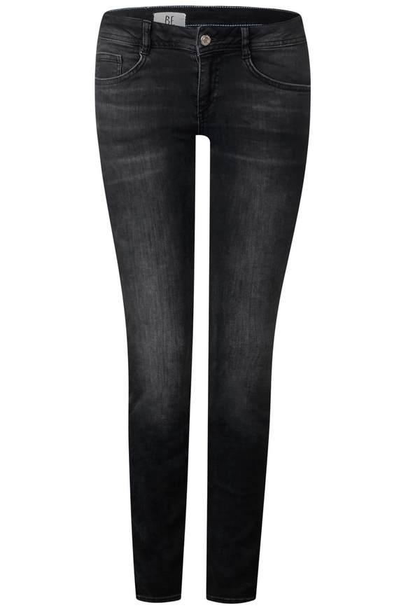 Jeans York met fluweel  - mid grey wash