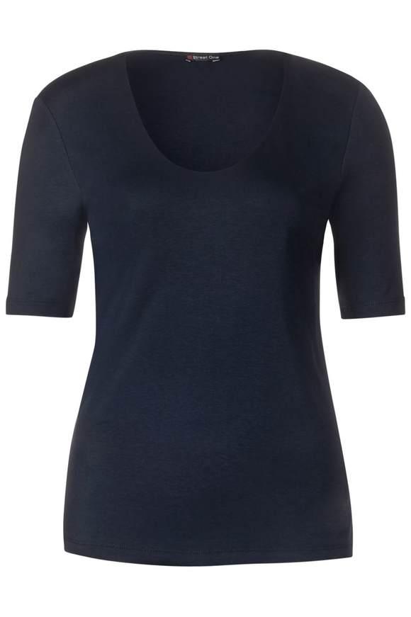 Basic shirt Palmira - deep blue