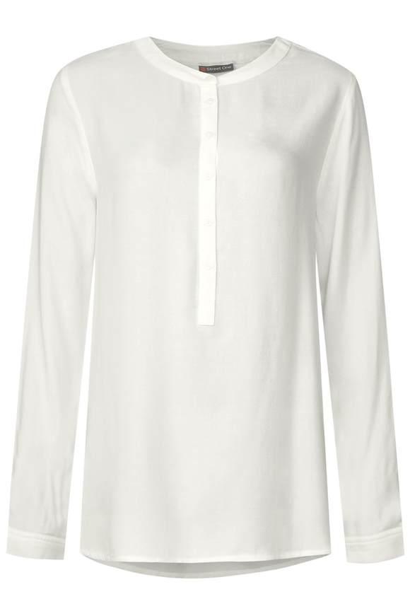 Lange blouse met knopen  - Wit