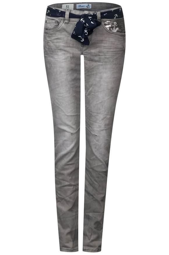Casual fit-jeans Crissi  - Grijs acid wash