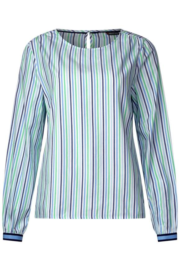 Gestreepte blouse en details - spring green