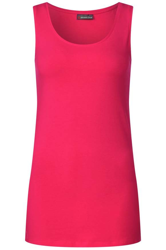 Basic Longtop - dark blossom pink | Bekleidung > Tops > Longtops | Dark blossom pink | STREET ONE