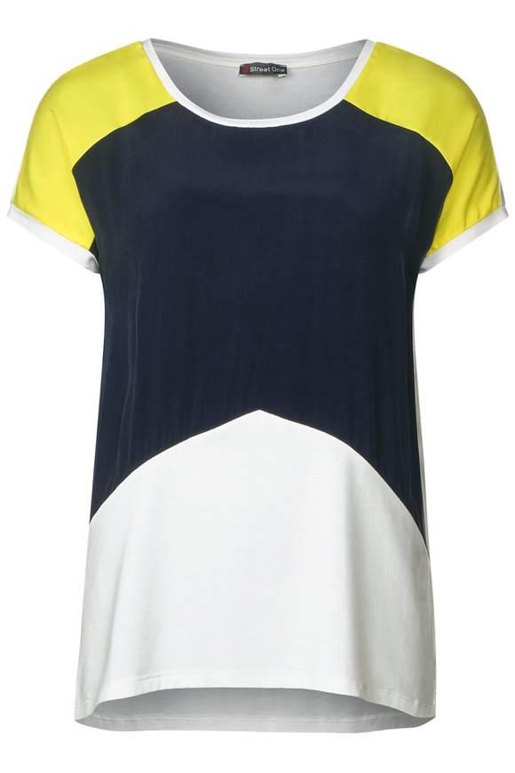 Colorblock shirt - Wit