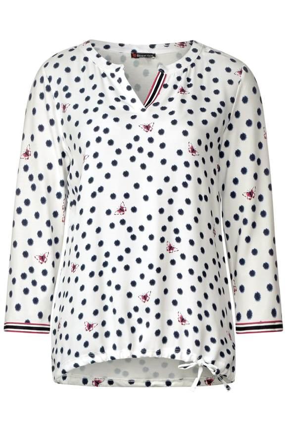 Allover Print Shirt - off white | Bekleidung > Shirts > Print-Shirts | Off white | STREET ONE