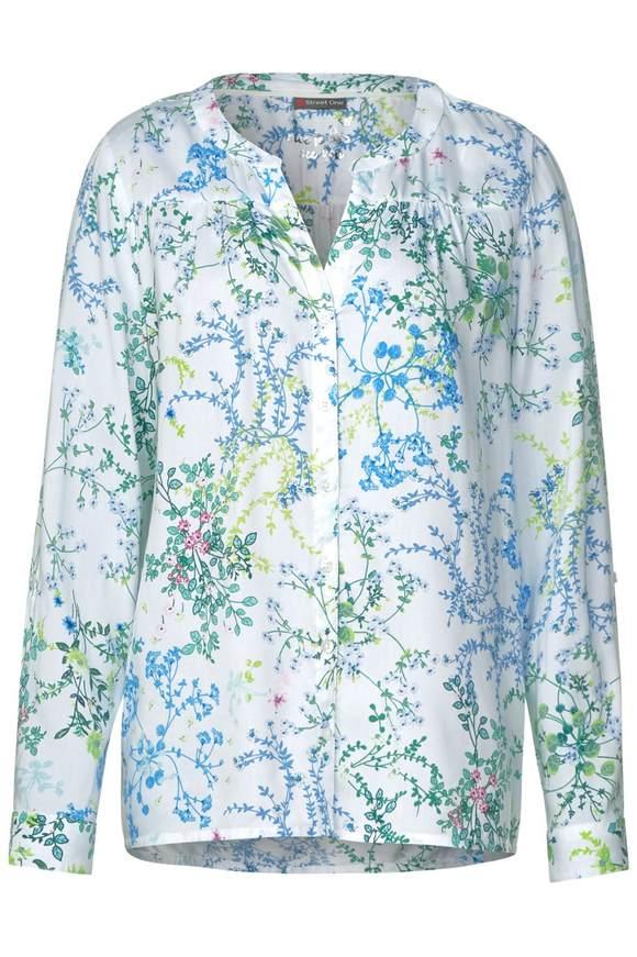 Longbluse mit Flower-Print - off white | Bekleidung > Blusen > Longblusen | Off white | STREET ONE