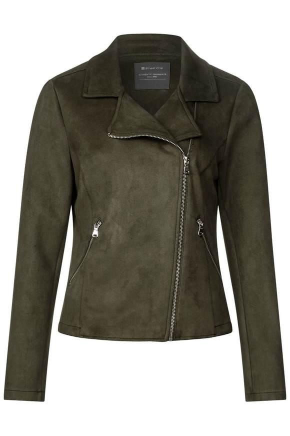 Lässige Bikerjacke - soil green   Bekleidung > Jacken > Bikerjacken   Soil green   STREET ONE
