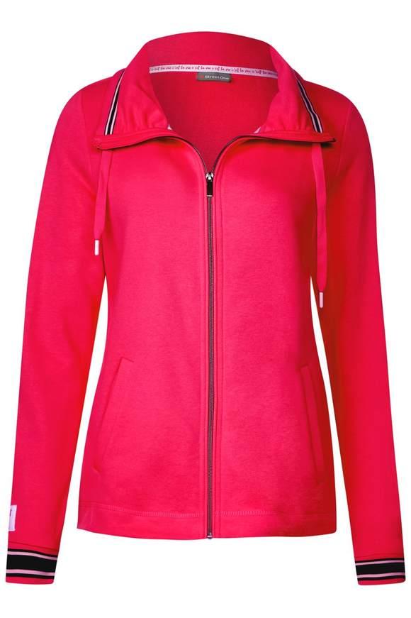 Sweatjacke mit Kragen - dark blossom pink | Bekleidung > Sweatshirts & -jacken > Sweatjacken | Dark blossom pink | STREET ONE