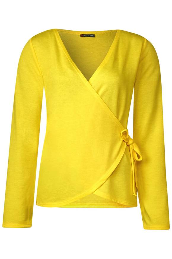 Shirtjacke in Wickel-Optik - sunshine yellow | Bekleidung > Shirts > Shirtjacken | Sunshine yellow | STREET ONE