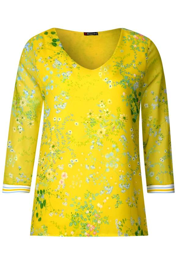 Blumenprint Shirt Rafaela - sunshine yellow | Bekleidung > Shirts > Print-Shirts | Sunshine yellow | STREET ONE