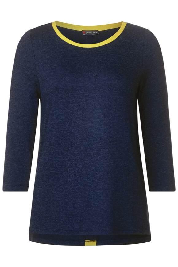 Shirt met contrastdetail - deep blue