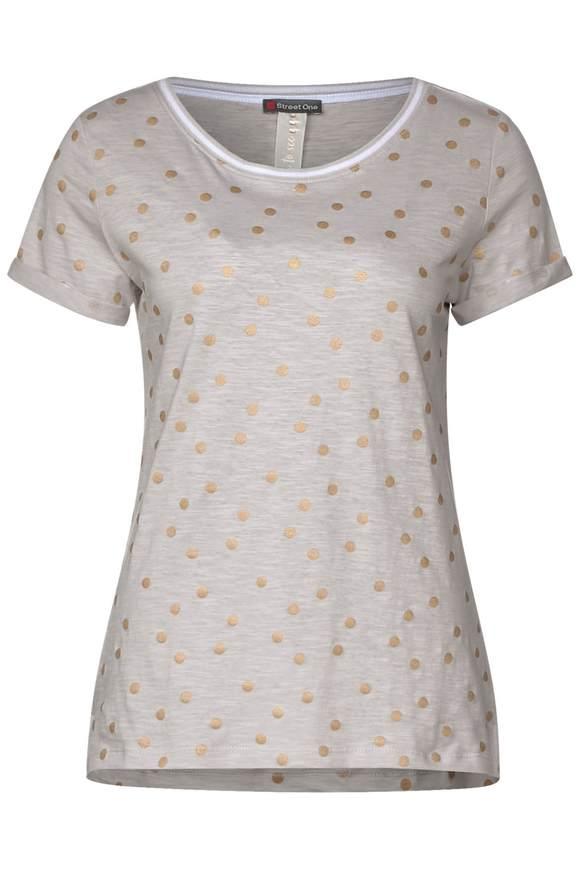 Shirt mit Folien-Print - lunar grey | Bekleidung > Shirts > Sonstige Shirts | Lunar grey | STREET ONE