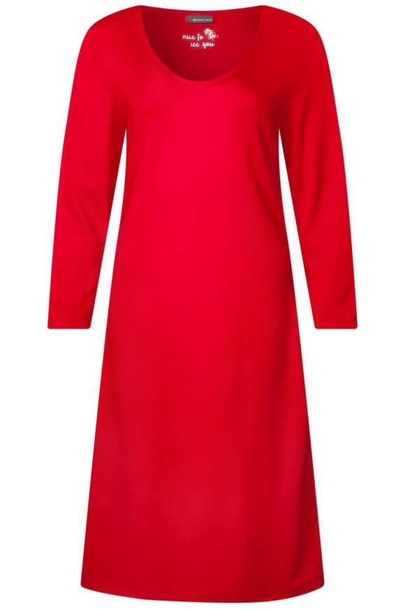 Sweat-Kleid mit Streifen - vivid red | Bekleidung > Kleider > Sweatkleider | Vivid red | STREET ONE